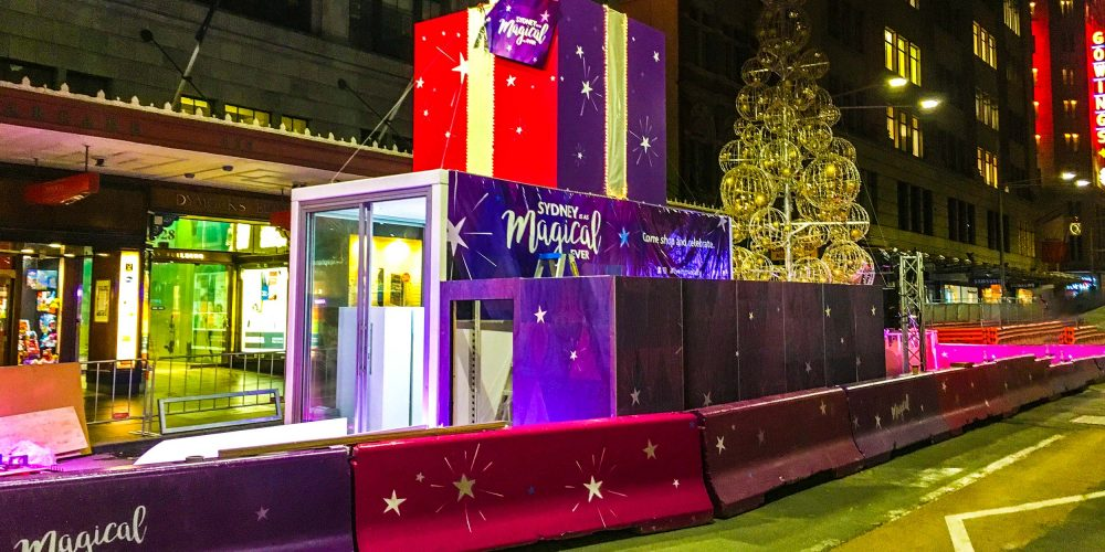 George Street Sydney Christmas Activation by Modular Event Solutions