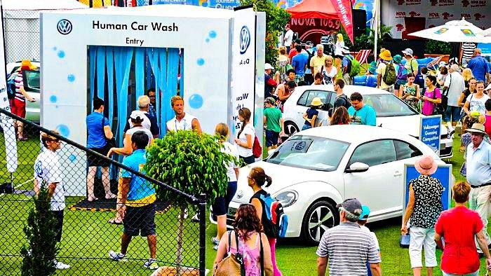 VW Human Car Wash Modular Event Solutions