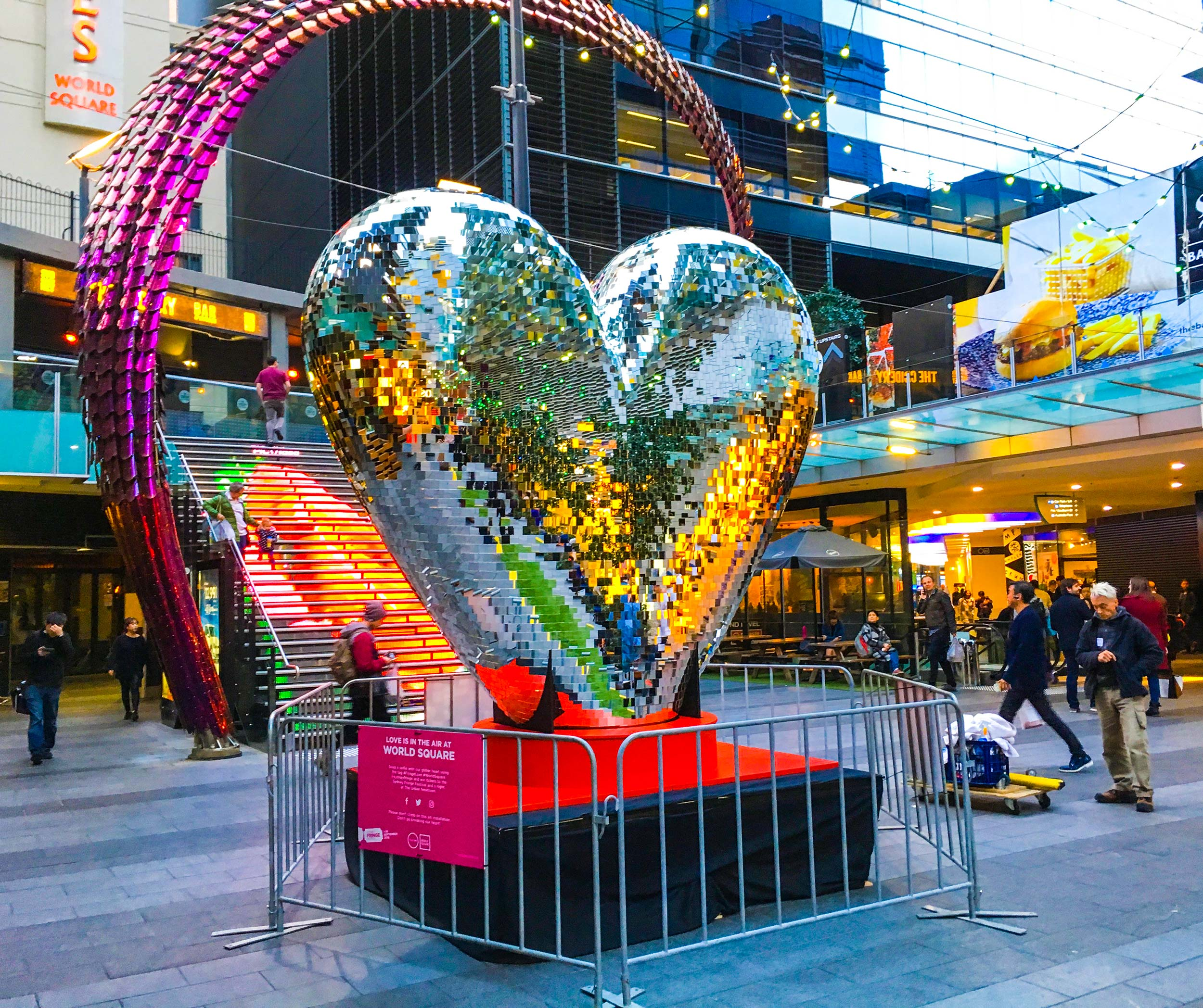 World Square Heart Modular Event Solutions
