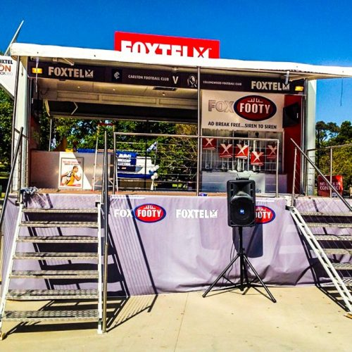 Foxtel Road Show produced by Modular Event Solutions