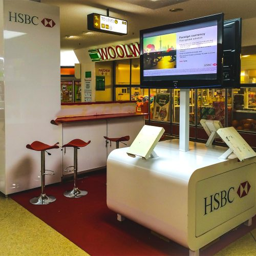 HSBC Customer Access Point produced by Modular Event Solutions