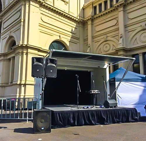 Modular Events can design and create any mobile stage to suit your show or event, however big or small.