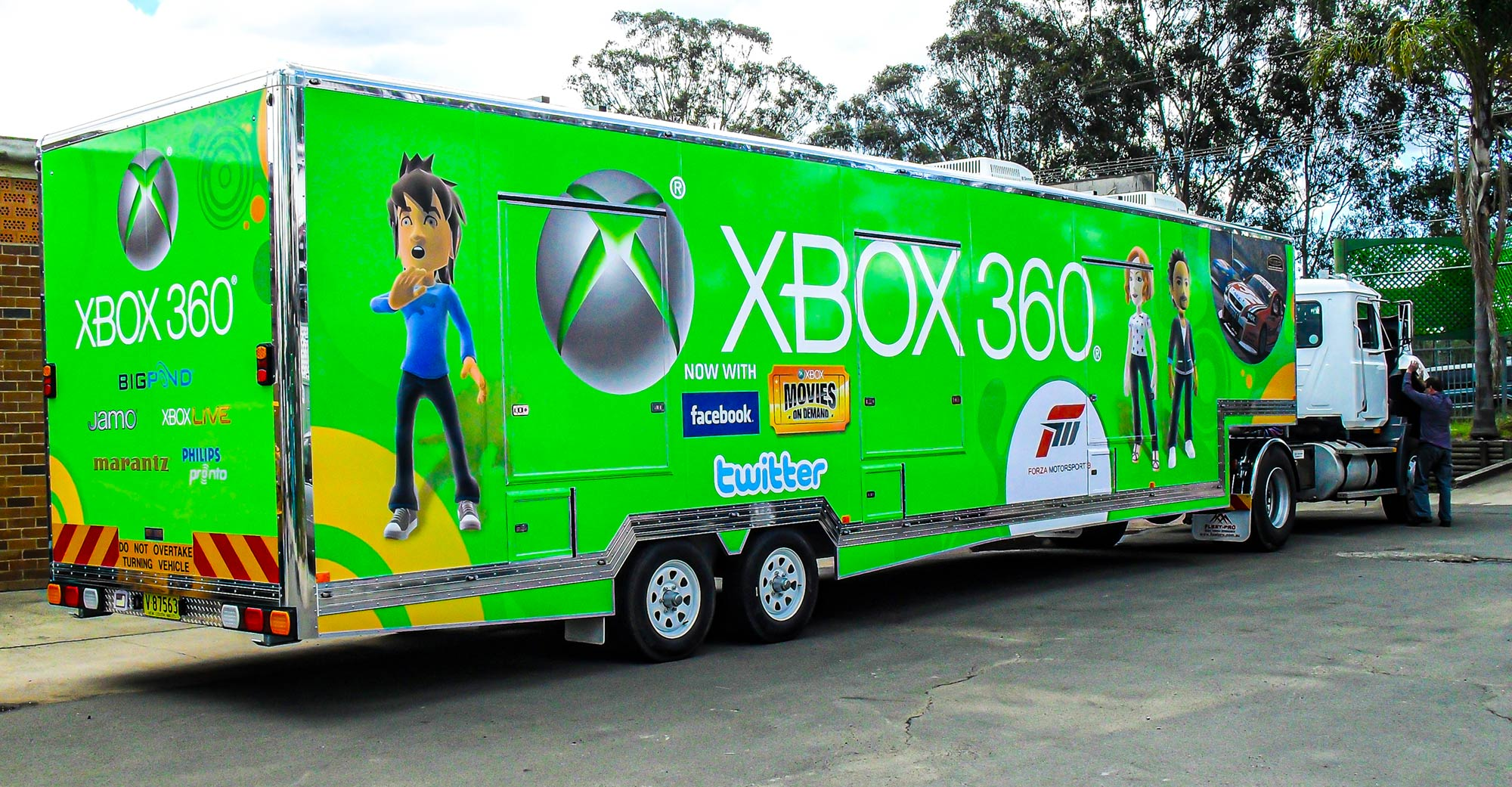 Xbox Mobile Games Trailer built by Modular Event Solutions